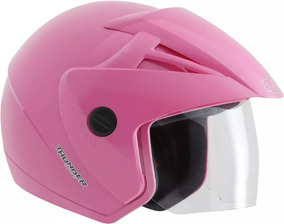 Capacete Moto Aberto Ebf Thunder Open Feminino Rosa