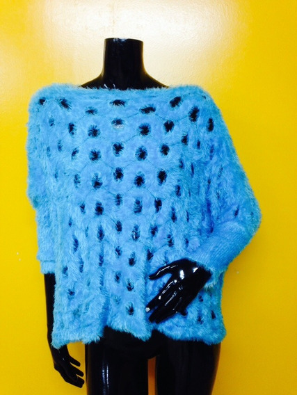 Chalequito Peludo Calipso Chaleco Sweter Crop