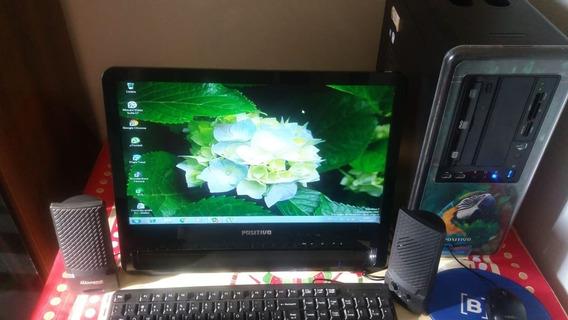 Computador Positivo ,minitor ,teclado,caixas De Son E Mouse