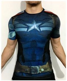 Playera Capitan America Avengers Endgame Marvel Compresion