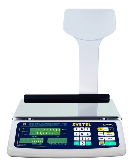 Balanza Electronica Systel Croma 31 Kg Cuotas