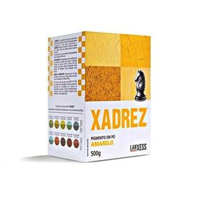 Corante Em Pó Xadrez 250g Amarelo Caixa Com 06 Unidades