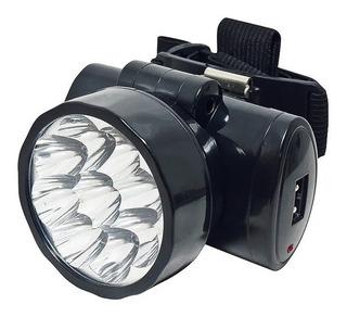 Lanterna Para Cabeça - Noll 351 - 9 Leds Recarregável Bivolt