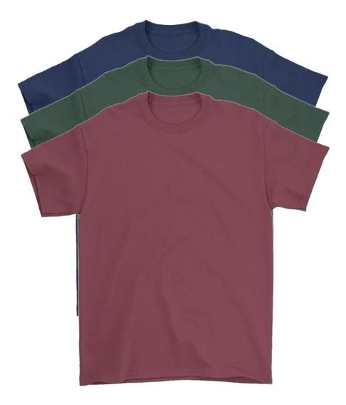 Kit 3 Camiseta Masculina Básica Algodão 30.1 Premium Atacado