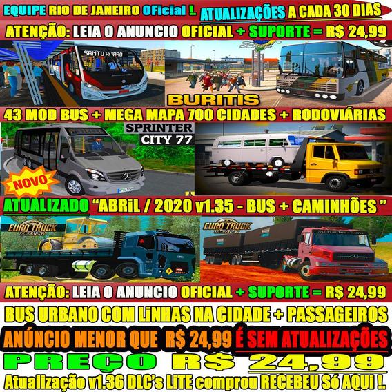 Euro Truck Simulator 2 Pc Brasil Mod Bus Steam 2020 Original