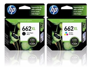 Cartuchos Hp 662xl Negro + 662xl Color Pack Combo Original