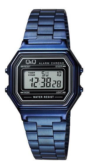 Relógio Q&q Vintage Unissex Azul M173j007y