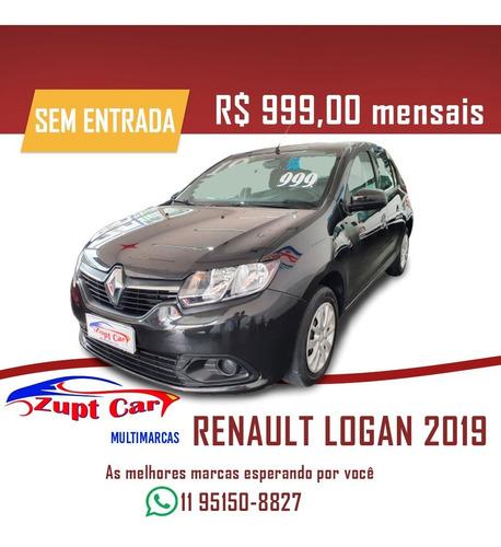 Renault Logan 2019 - Financiamento Uber 99 Pop Zero Entrada