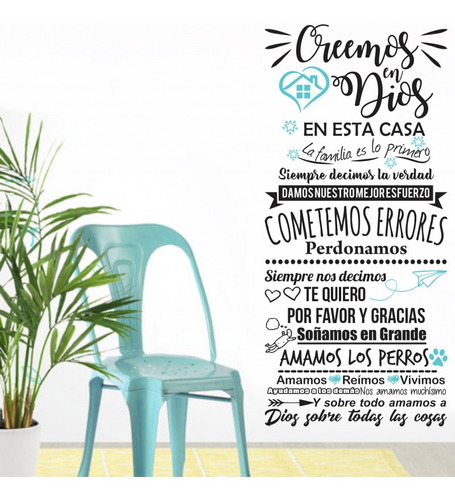 Vinilos Decorativos Pared Frases, 1.10 X 60cms