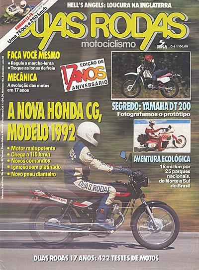 2r.193 Set91- Honda Cg125 Today Ninja Zx7 Lona Marcha Lenta