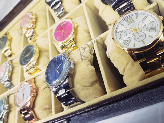 Kit Com 10 Relógios Feminino Atacado + Caixas + Baterias