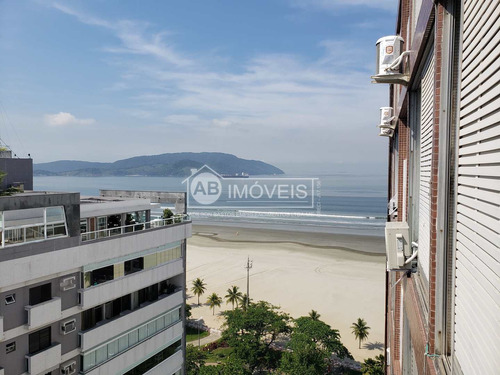 2 Dorms, Fte  Praia-mar Gonzaga, Santos - R$ 650 Mil, Cod: 3950 - V3950