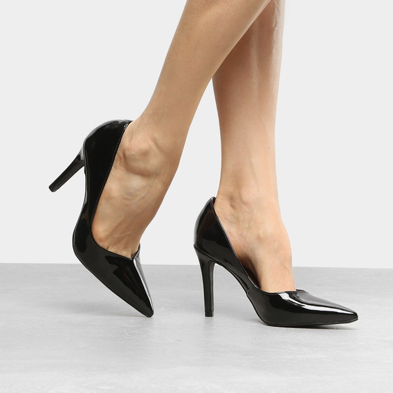 Sapato Scarpin Bebecê Salto Alto Verniz