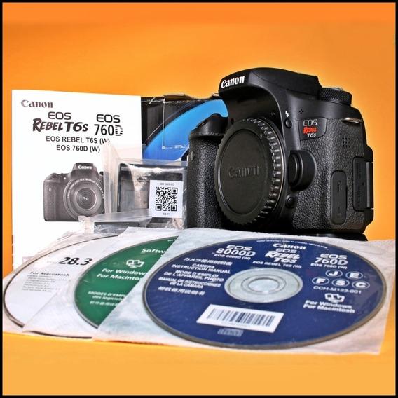 Canon T6s - Realmente Nova, Cuidada, Impecável - Zero Marcas