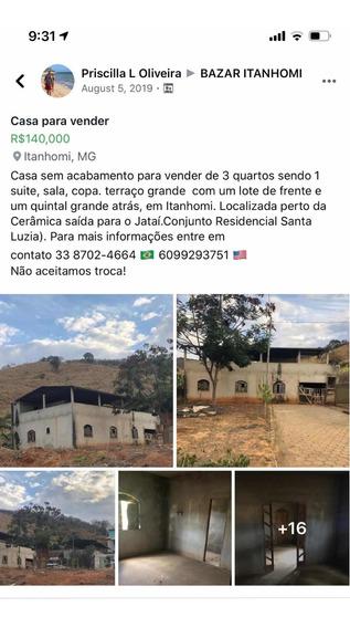 Casa Em Itanhomi Para Vender