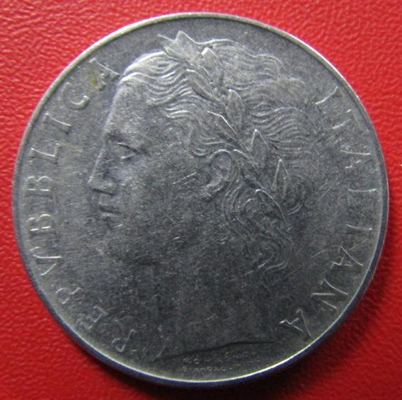 Italia Moneda 100 Liras 1957 Unc Km 96.1