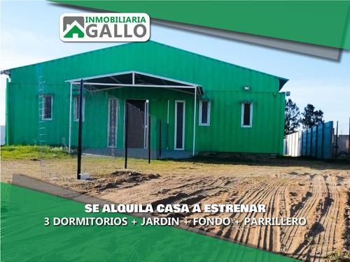 Alquiler Casa A Estrenar 3 Dormitorios Playa Pascual