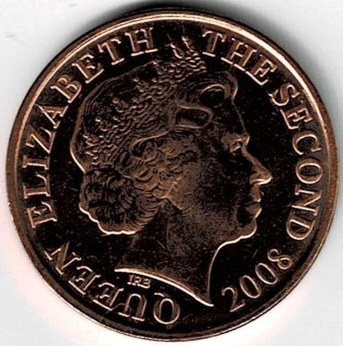 Moneda De Jersey 1 Penny 2008 Sin Circular Barata