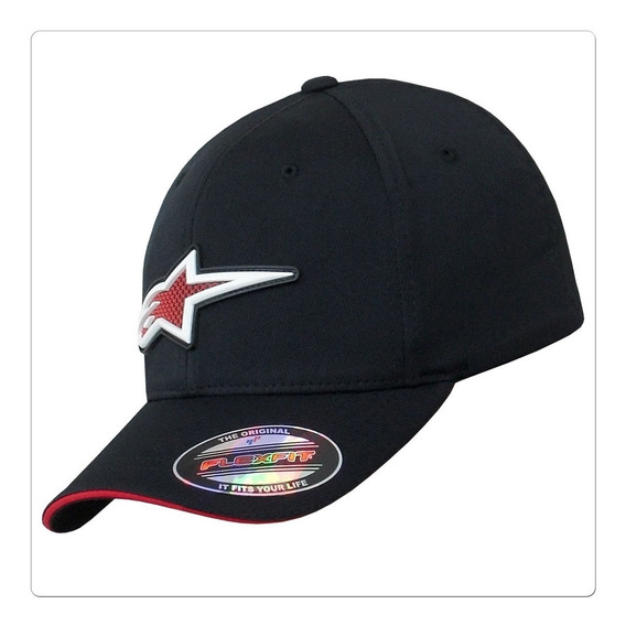 Boné Alpinestars Astar Rubber Logo Flex Fit Original-2 Cores