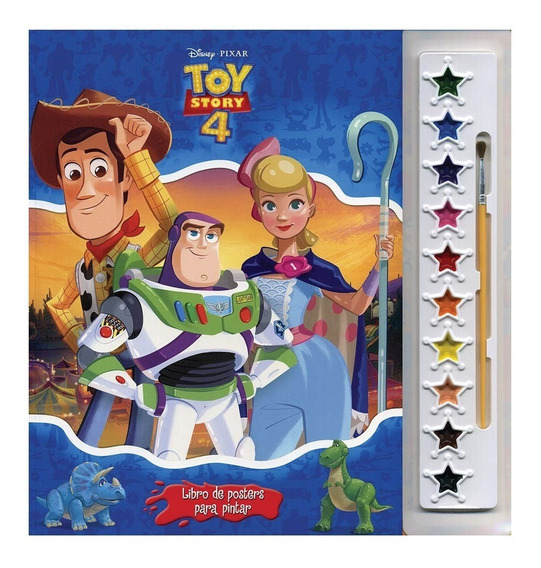 Libro De Posters Para Pintar: Toy Story 4