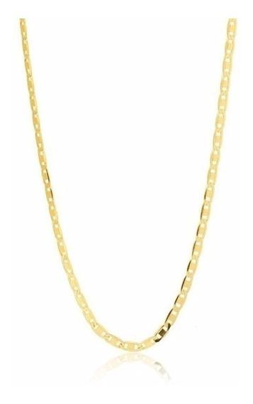Promoção Corrente Cordão Piastrine 60cm Ouro 18k 750 Mac