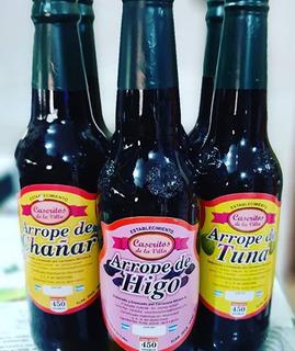 Arrope Chañar- Tuna - Higo 450 Gs X3 Botellas