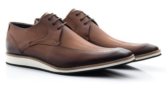 Sapato Derby 100% Couro Legítimo Casual Promoção Lançamento