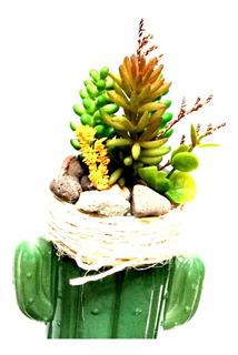 Cactus Artificial Verde Decoracion Regalo Hogar Oficina