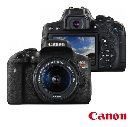 Camera Canon Eos Rebel T7i 24.2mp + Lente Ef-s 18-55 Is Stm