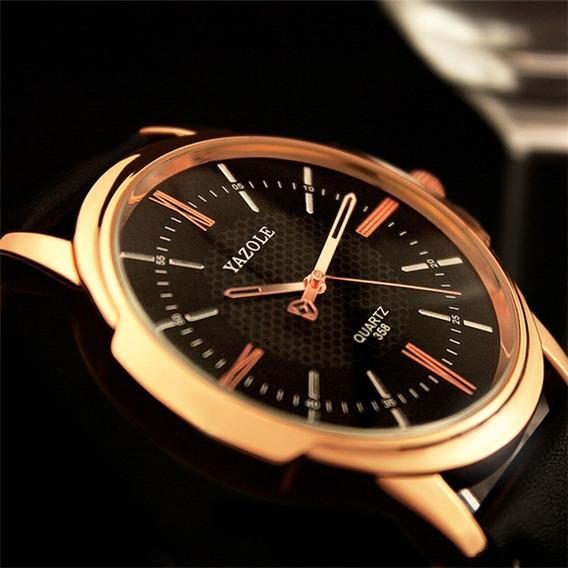 Reloj Para Hombre Grande Fondo Negro Elegante