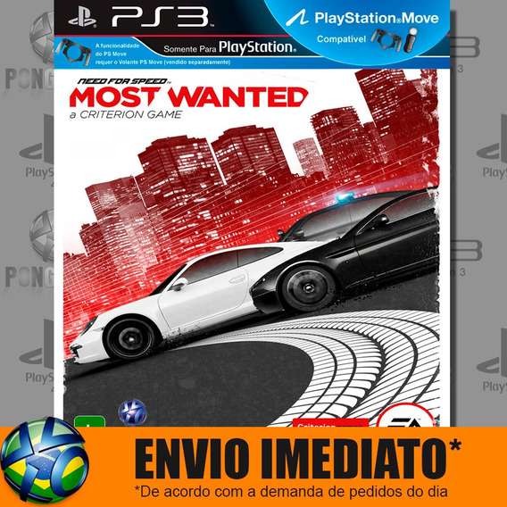 Jogo Ps3 Psn Play 3 Need For Speed Most Wanted Envio Agora
