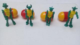 Robot Set X 4 Huevos Para Armar- Colección Devoto Hobbies