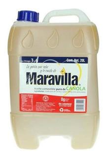 Aceite Maravilla Bidon 20 Litros Comestible Puro De Canola