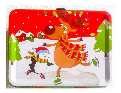 Caja De Regalos Navidad Con Broche Lonchera Adornos Empaques