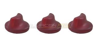 Juego Perilla Calefacción Roja Renault Twingo (x3)