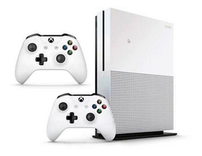 Xbox One S1tb Nf+garantia 1 Ano C/2 Controles+game Pass+live