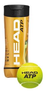 Pelotas Tenis En Tubo X 3 Balls Head Atp X 3 Unidades