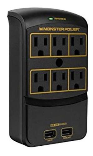 Monster Power - Oro 650 Usb+, 6 Salidas Ac, 2 Salidas Usb 3.