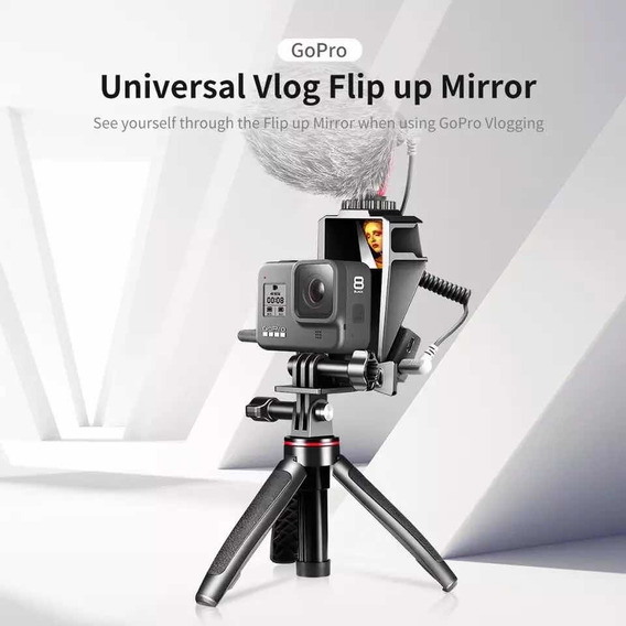 Suporte Espelho Vlog Flip Com Sapatas Gopro 8 7 6 - Ulanzi