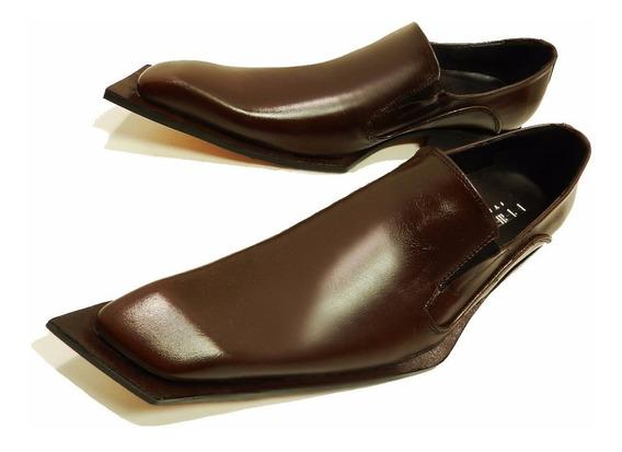 Zapatos Punta Diagonal De Vestir Cuero Priamo Italy Oferta!