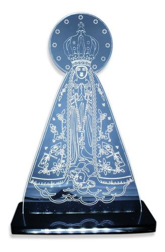 Imagem 1 de 7 de Luminária 3d - Nossa Senhora Aparecida - Decoração- Religião