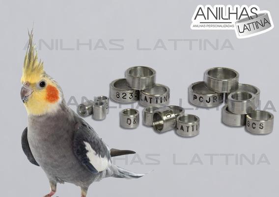 Anilha Lattina Calopsita 5.5mm Alumínio 10 Uni Personalizada