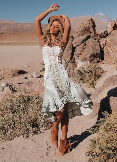 Vestido Mullet Bordado + Cinto Perfectway 2020