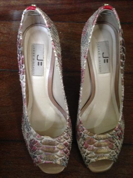 Sapato Alto Luxo Jorge Bischoff Tam 37 Nunca Usado