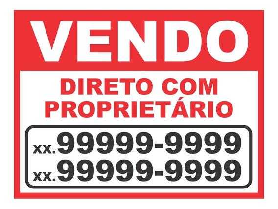 Placa Em Pvc Vendo Vende-se Aluga-se P/ Imóvel 60 X 40 Cm