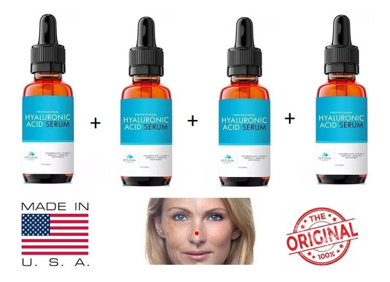 Hialurônico Ac. + Vitamina C Serum Anti-rugas Clareador 4u