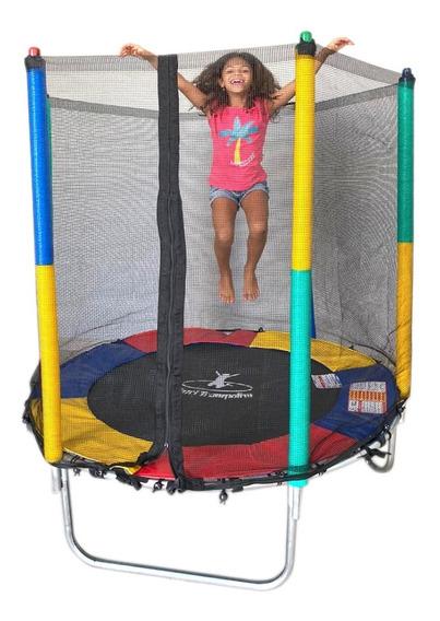 Pula Pula Kids Infantil Rede Com Ziper 1.40m Henri Trampolim