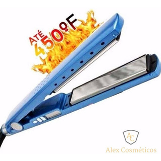 Piastra Nano Titanium Alisa Cabelo 230°c 110v Azul Beleza