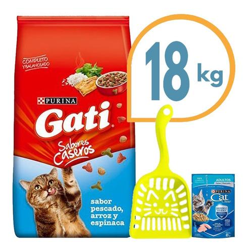 Comida Gato Adulto Purina Gati Pescado 18 Kg + Envío Gratis