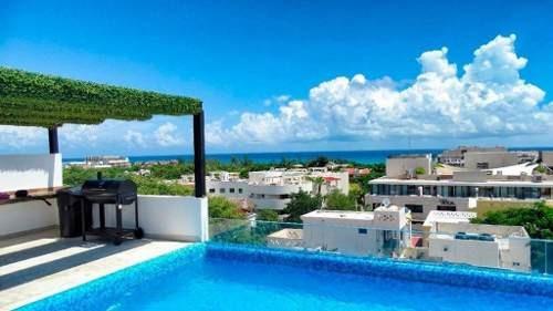 Hermoso Penthouse En Venta A Media Cuadra De La 5ta Playa Del Carmen P2633